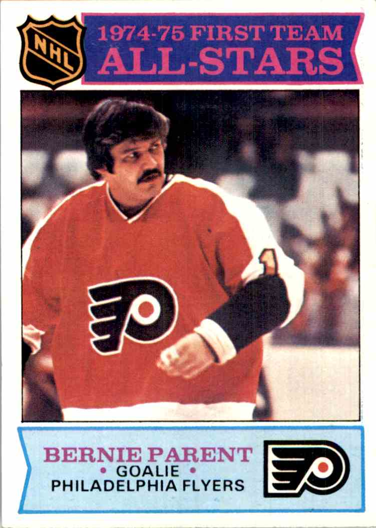 1975-76 Topps All-Star Bernie Parent #291 card front image