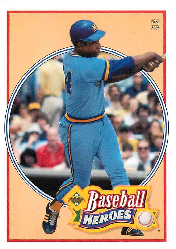 1992 Upper Deck Baseball Heroes Hank Aaron 25 Of 27 On Kronozio