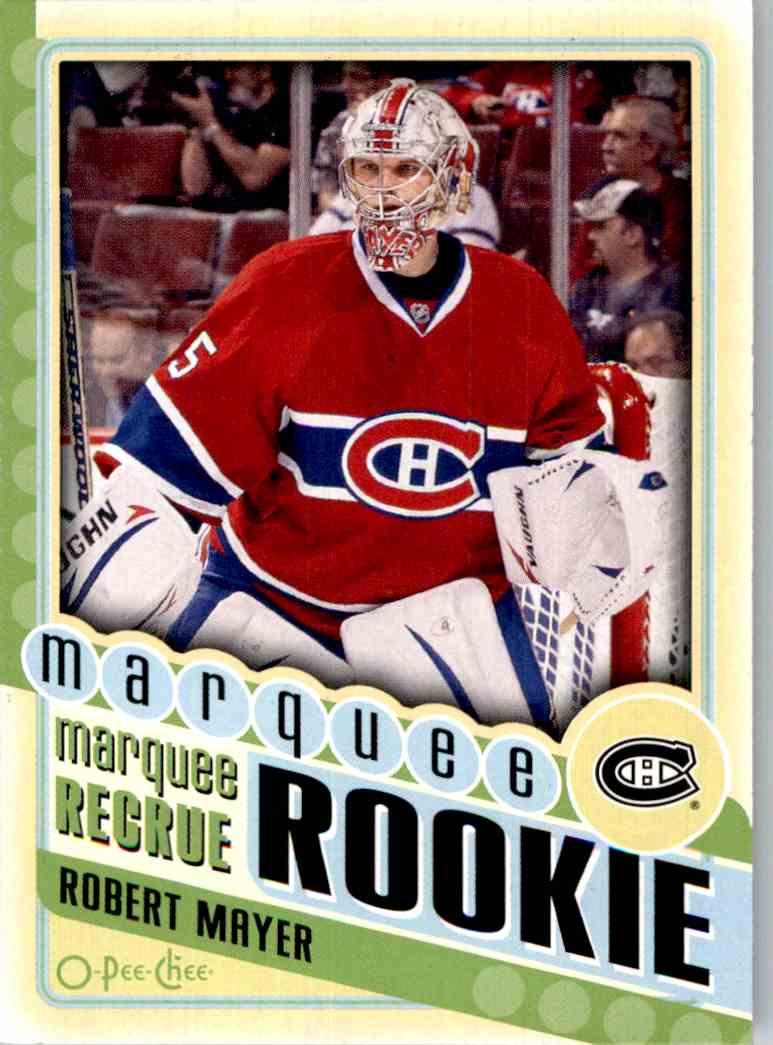 2012-13 O-Pee-Chee Robert Mayer #580 card front image