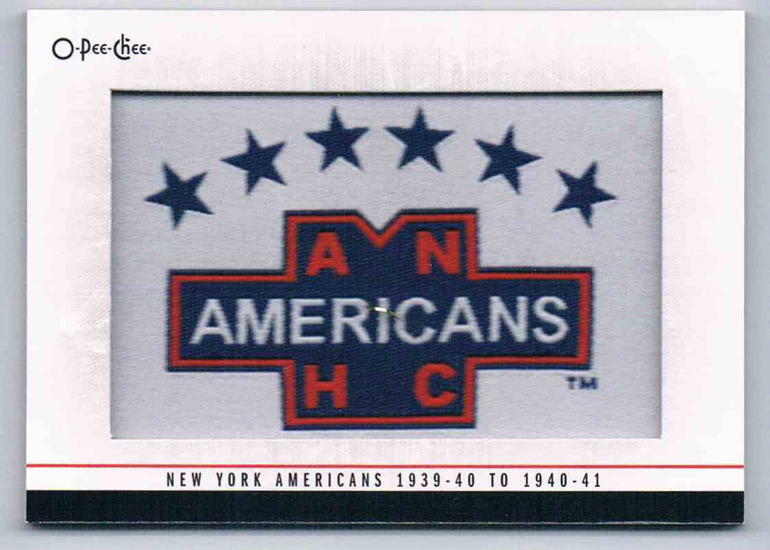 2013-14 Upper Deck O-Pee-CheeTeam Logo Patches 1939-40 To 1940-41 #186 card front image