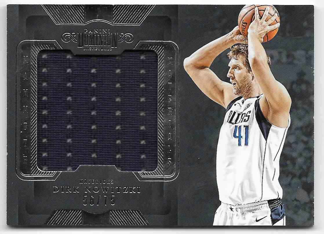2018-19 Pannini Dominion Mammoth Materials Dirk Nowitzki #MM-DN card front image
