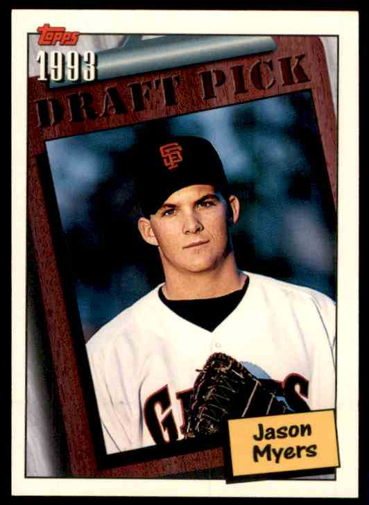1994 Topps Jason Myers RC #754 card front image