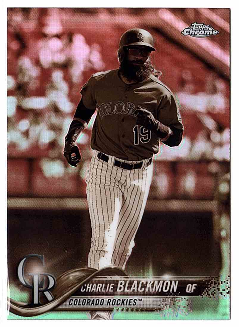 2018 Topps Chrome Sepia Refractors Charlie Blackmon #194 card front image