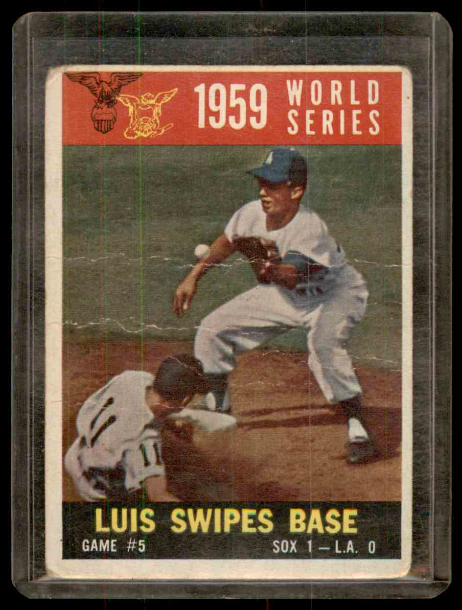 1960 Topps Aparicio Maury Wills #389 card front image