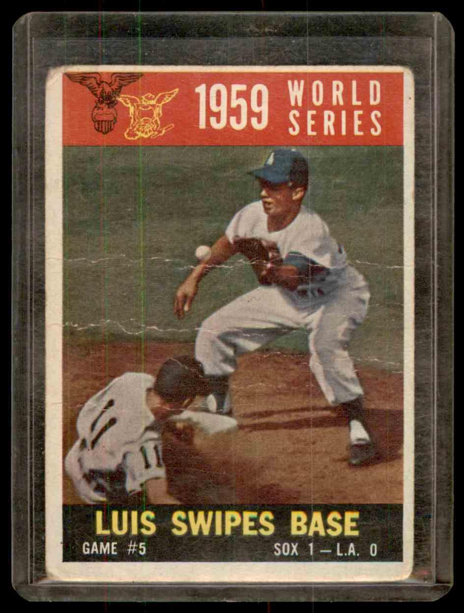 1960 Topps Aparicio Maury Wills #389 card front image