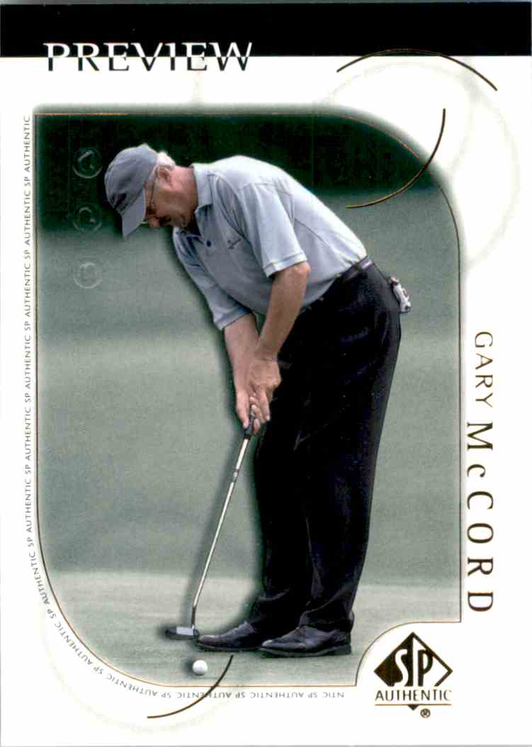 2001 SP Authentic Preview Gary McCord #12 card front image