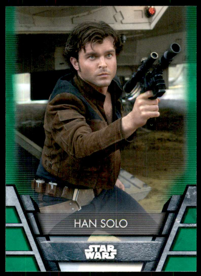 2020 Star Wars Holocron Green Han Solo #N9 card front image