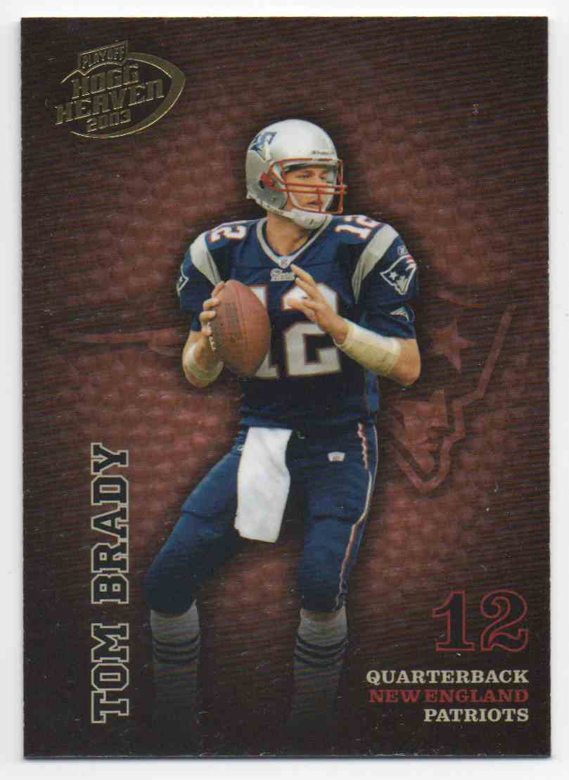 2003 Playoff Hogg Heaven Tom Brady #86 card front image