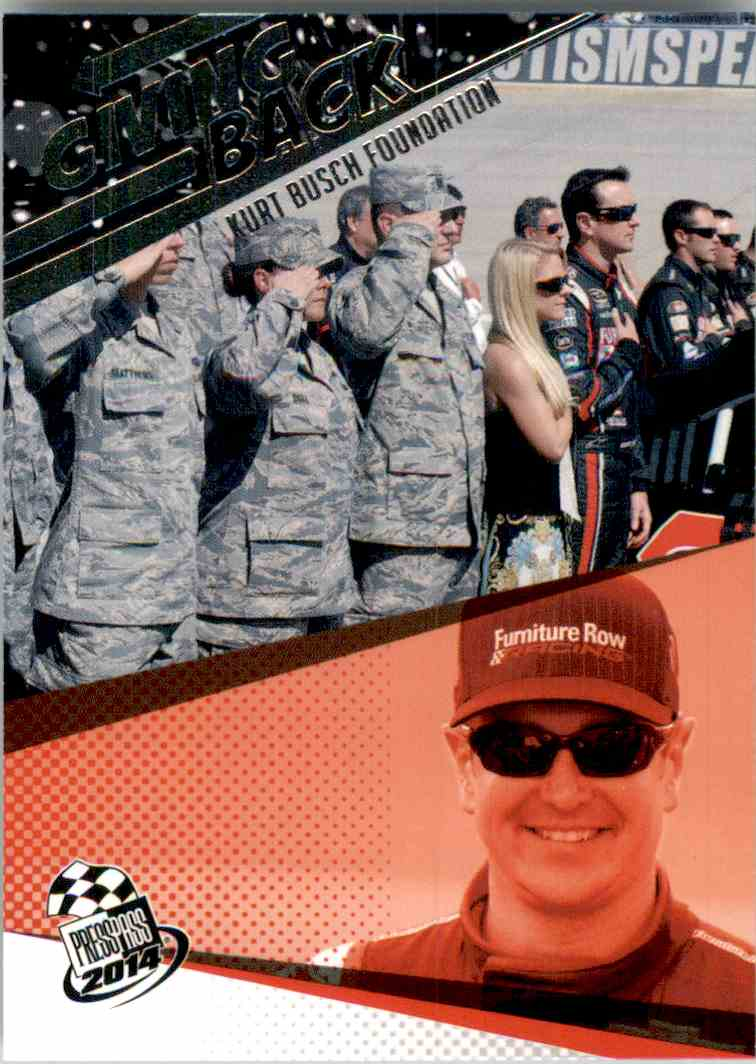2014 Press Pass Kurt Busch Gb #77 card front image