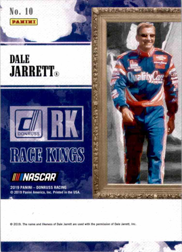2019 Donruss Dale Jarrett #10 card back image