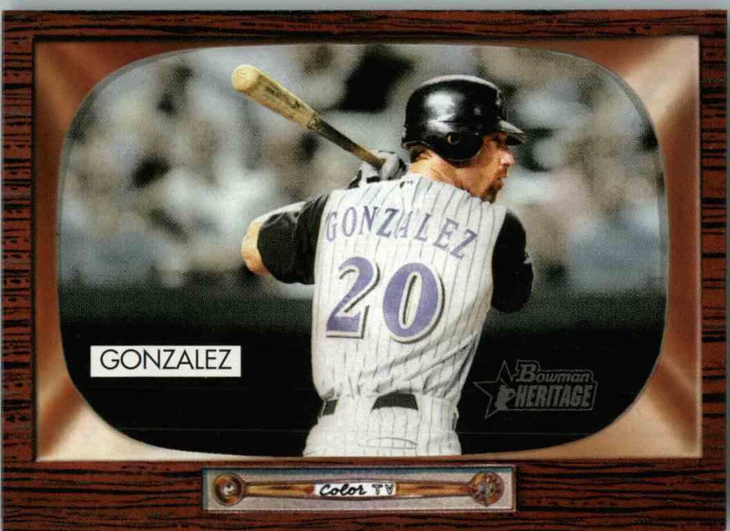 2004 Bowman Heritage Luis Gonzalez #124 card front image
