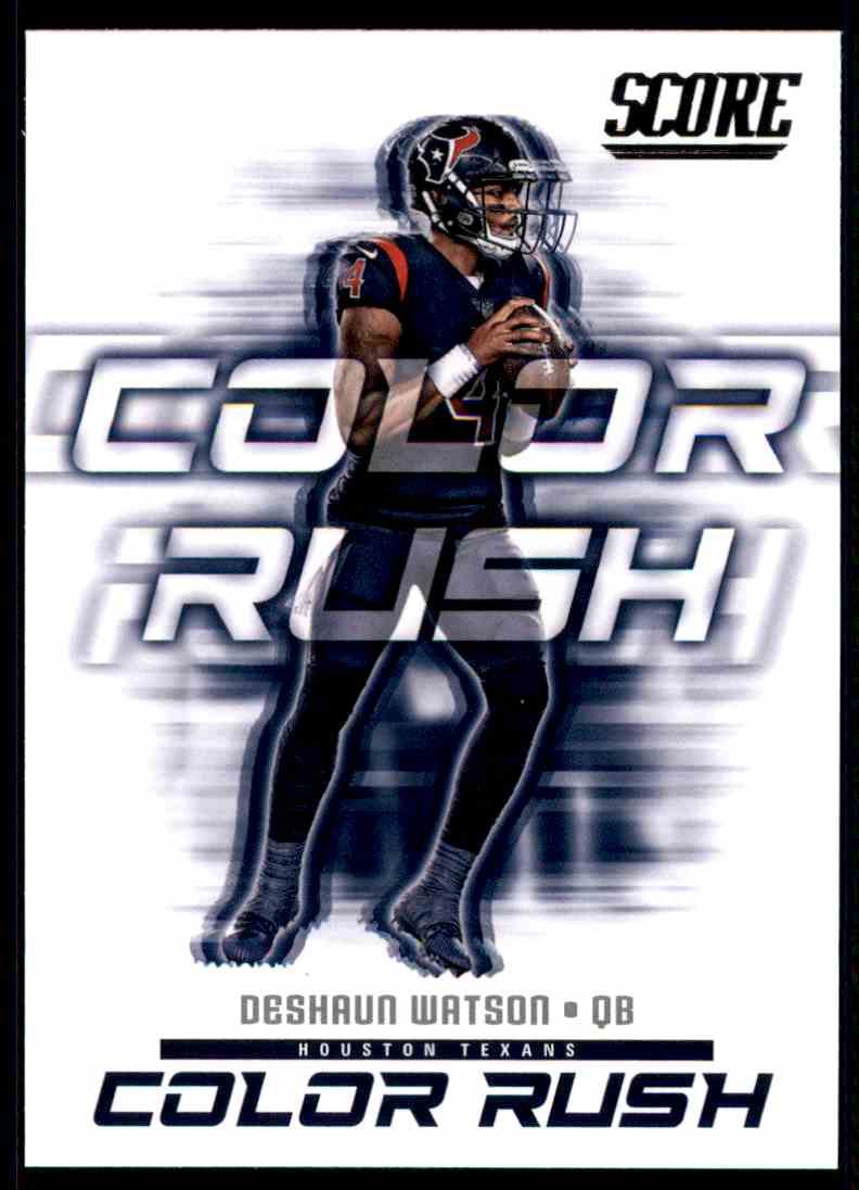 timeless design 28fc3 7c613 2018 Score Color Rush Deshaun Watson #3 on Kronozio