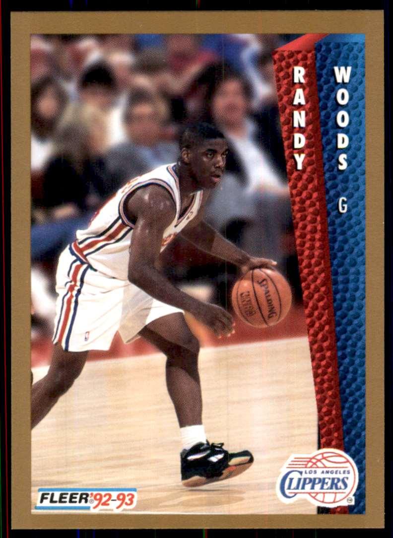 1992-93 Fleer Randy Woods RC #361 card front image