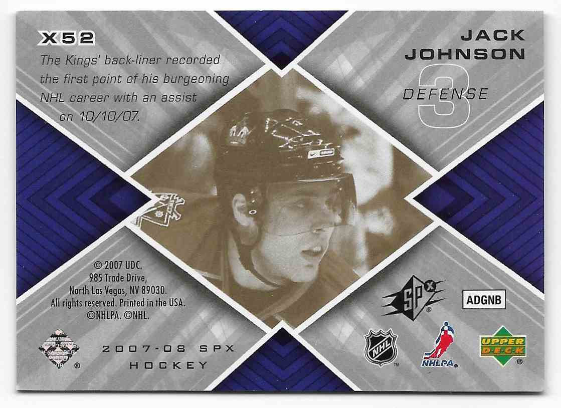 2007-08 Upper Deck SPx Jack Johnson #X52 card back image