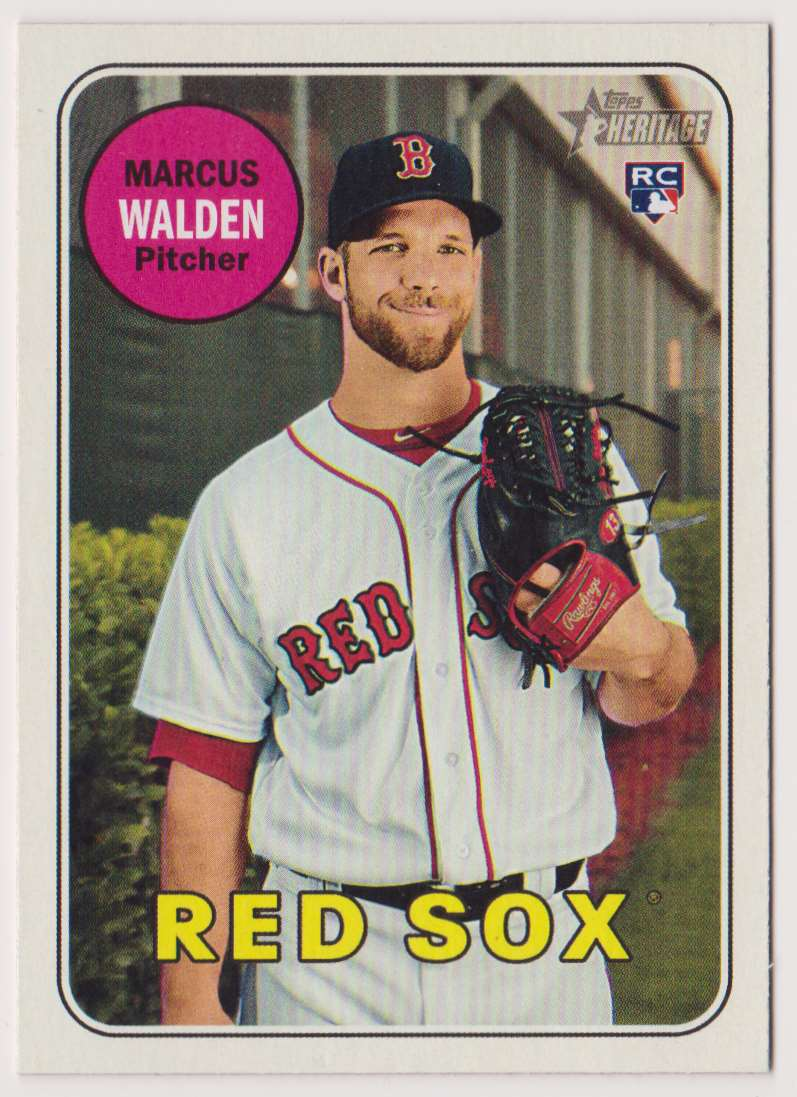 2018 Topps Heritage Marcus Walden #605 card front image