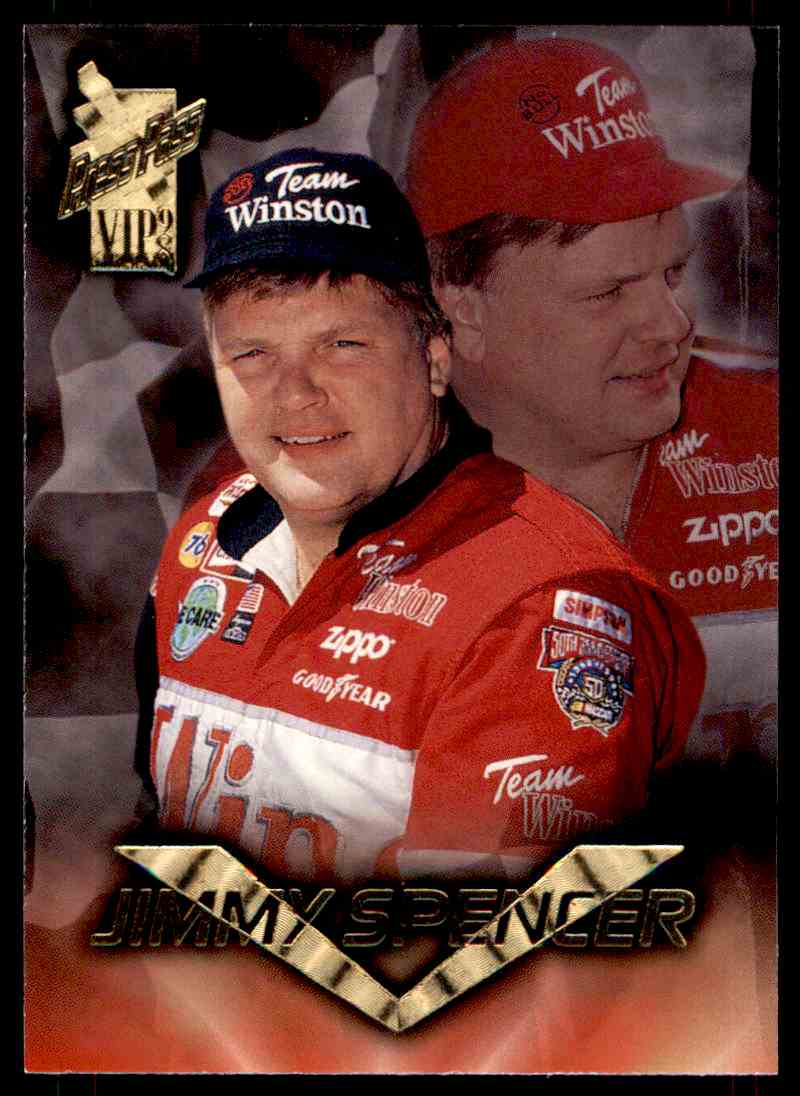 1998 Press Pass Vip Jimmy Spencer #25 card front image