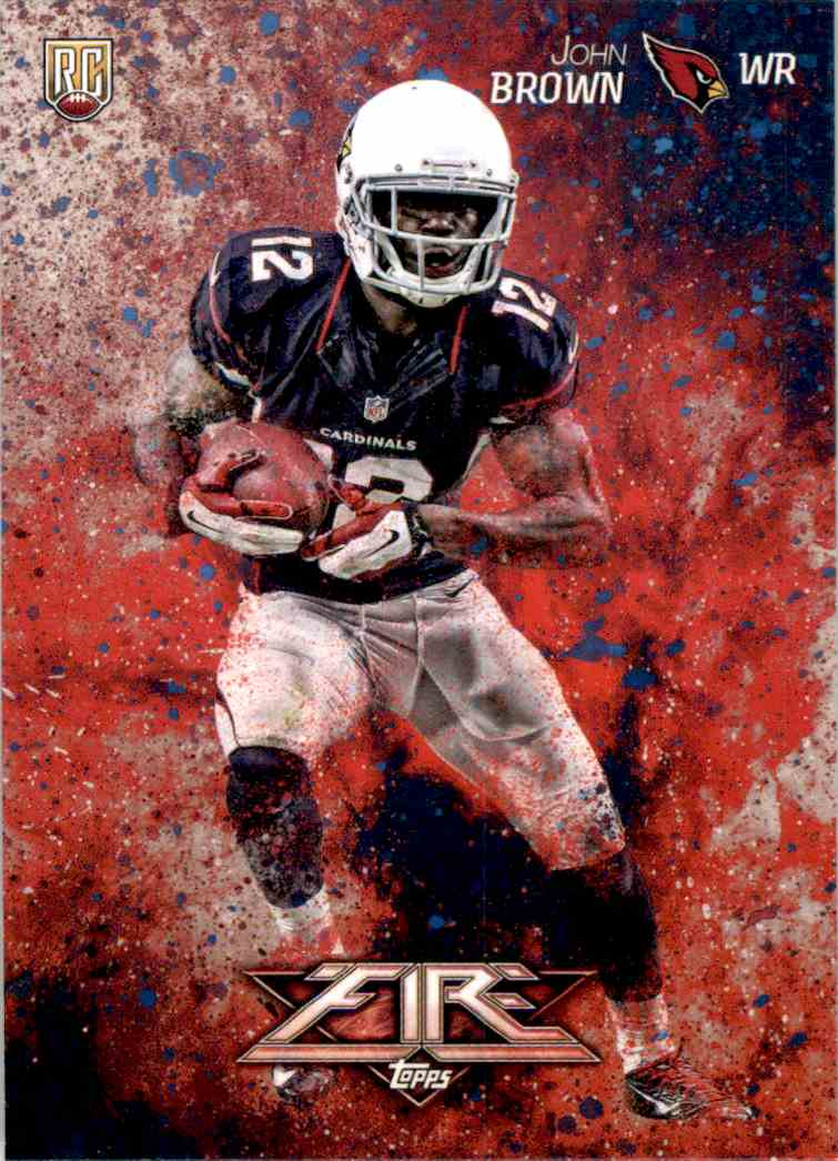 2014 Topps Fire John Brown RC #131 card front image