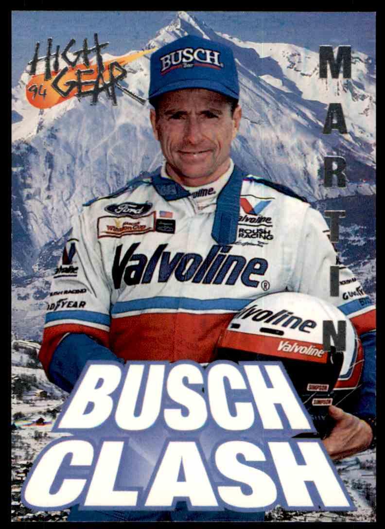 1994 Wheels High Gear Mark Martin #89 card front image
