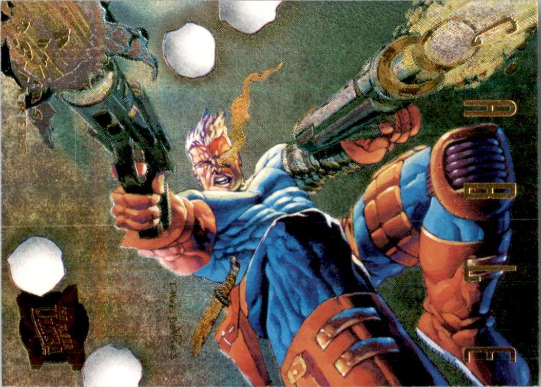 1995 X-Men Ultra Hunters And Stalkers Gold Cable #2 card front image