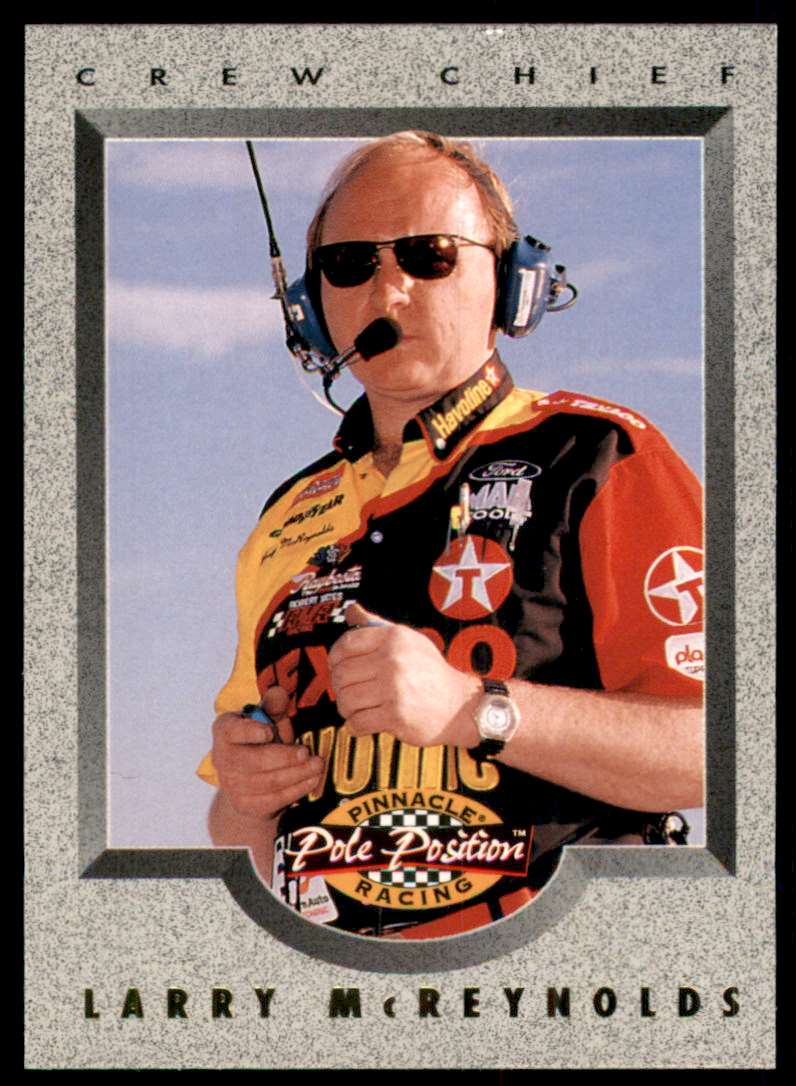 1996 Pinnacle Pole Position Larry McReynolds #83 card front image