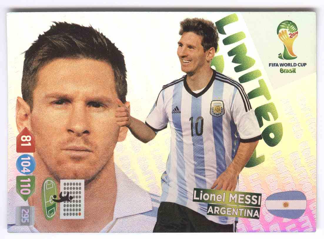 card LIMITED EDITION PANINI ADRENALYN XL BRASIL 2014 WORLD CUP XAVI