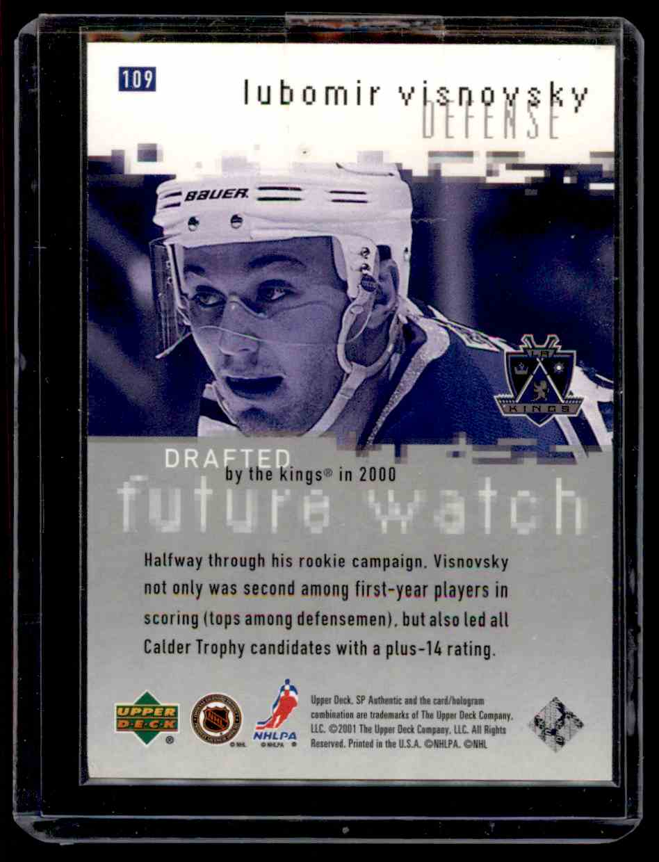 2000-01 SP Authentic Lubomir Visnovsky #109 card back image