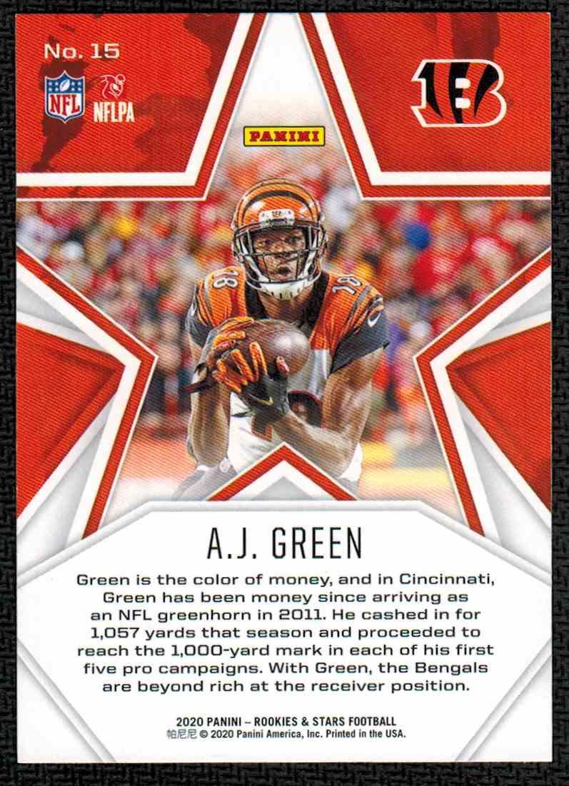 2020 Panini Rookies & Stars A.J. Green #15 card back image