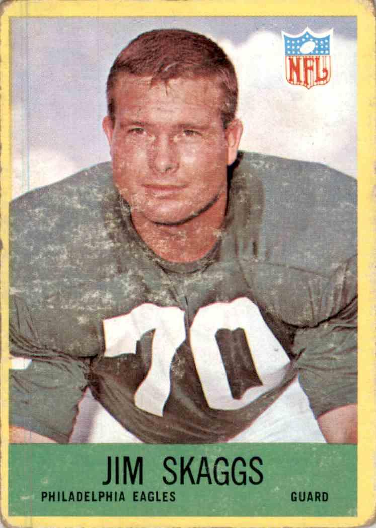 1967 Philadelphia Jim Skaggs #143 card front image