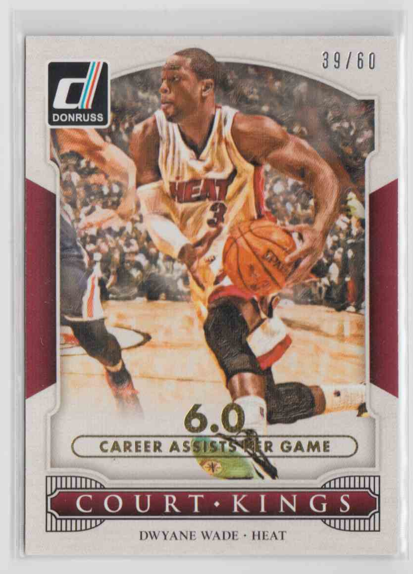 2014-15 Panini Donruss Court Kings Stat Line Career Dwyane Wade #8 card front image
