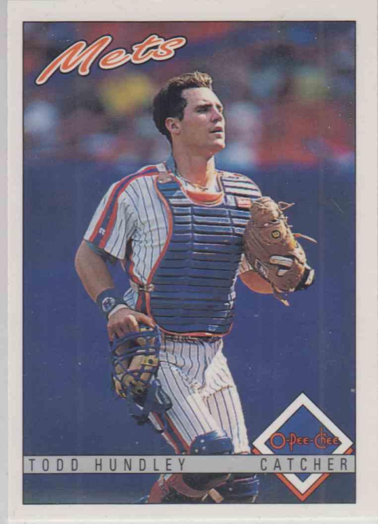 1993 O-Pee-Chee Todd Hundley #116 card front image