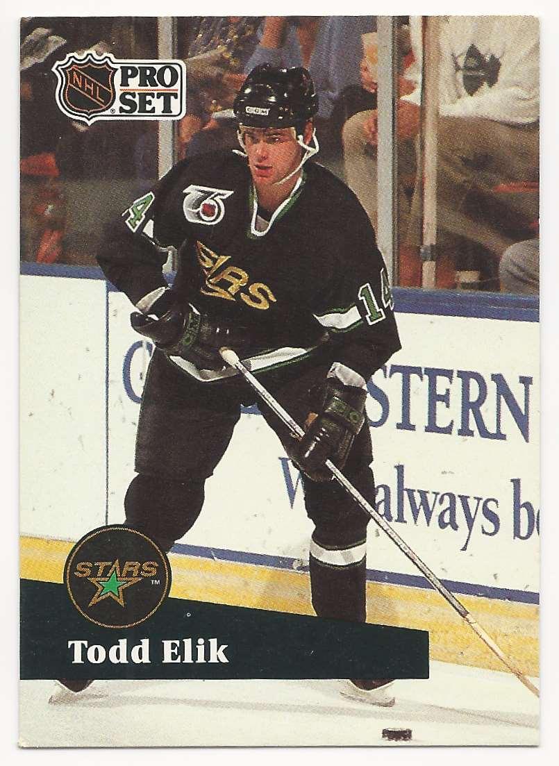 1991-92 Pro Set Todd Elik #410 card front image