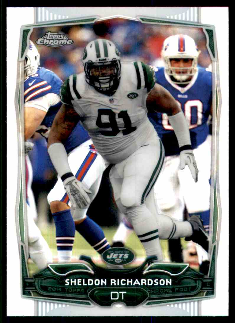 2014 Topps Chrome Refractors Sheldon Richardson #53 card front image
