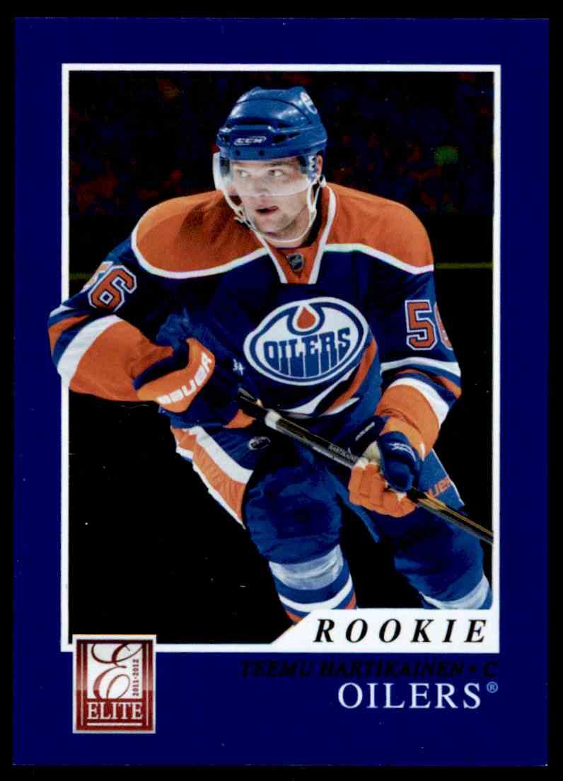 2011-12 Panini Elite Rookie Teemu Hartikainen #224 card front image