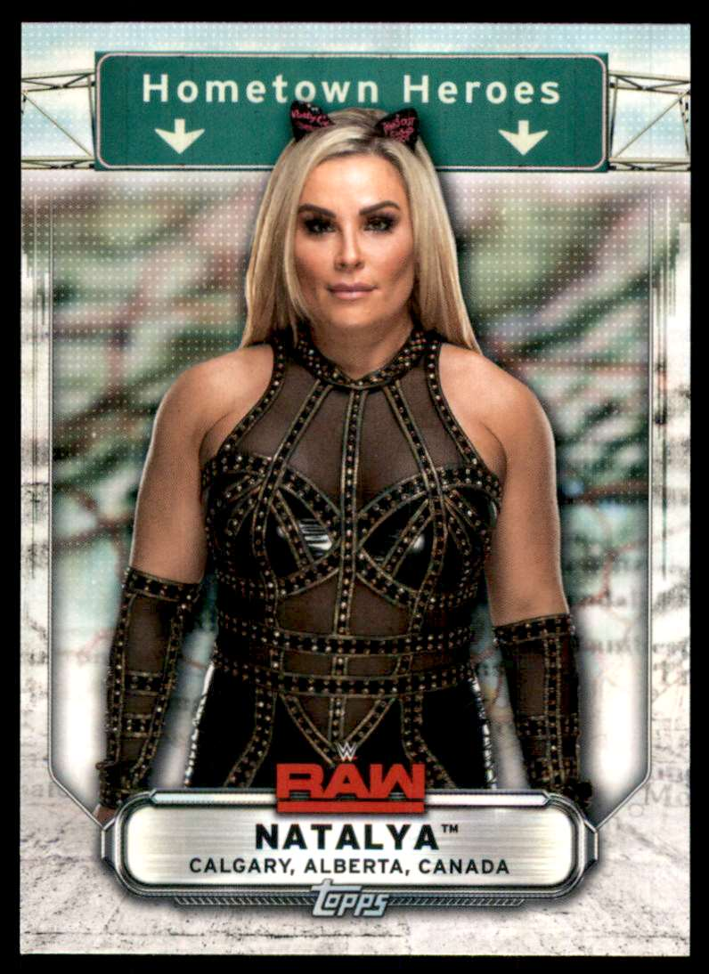 2019 Topps Wwe Raw Hometown Heroes Natalya #HH26 card front image