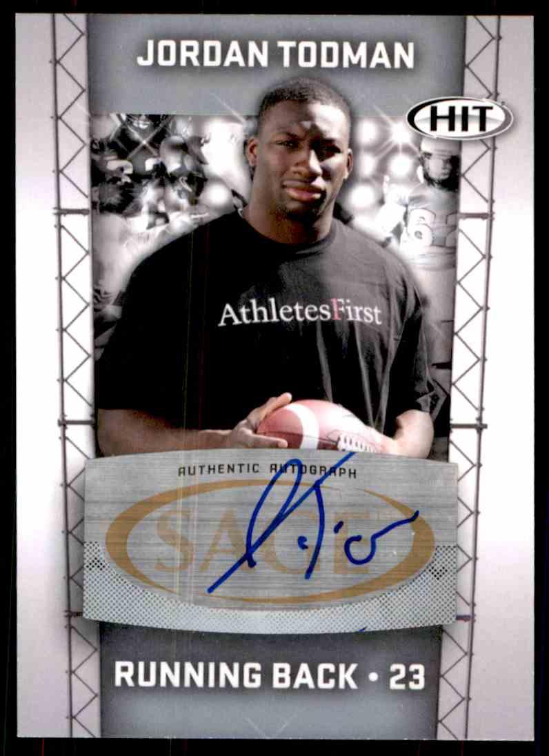 2011 Sage Hit Jordan Todman card front image