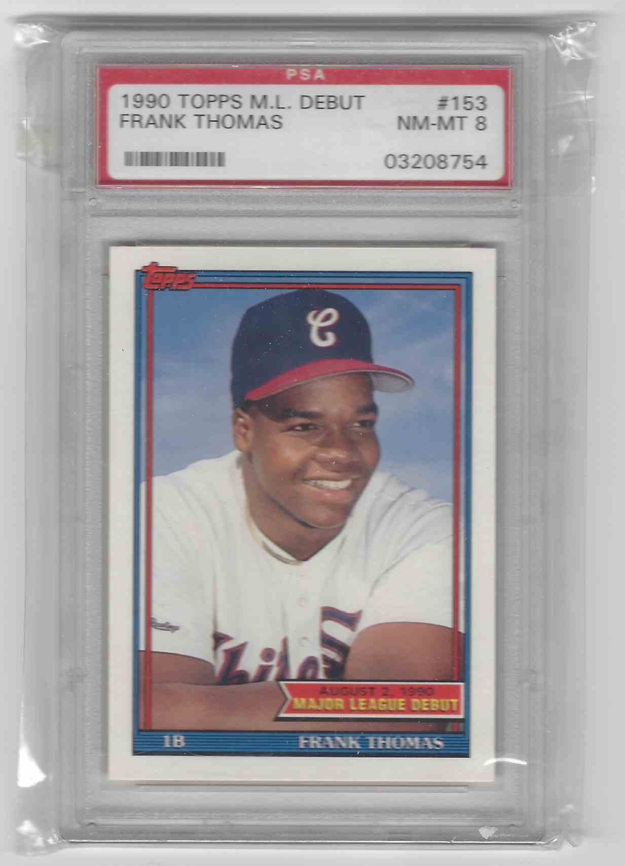 1990 Topps Major League Debut Frank Thomas 153 On Kronozio