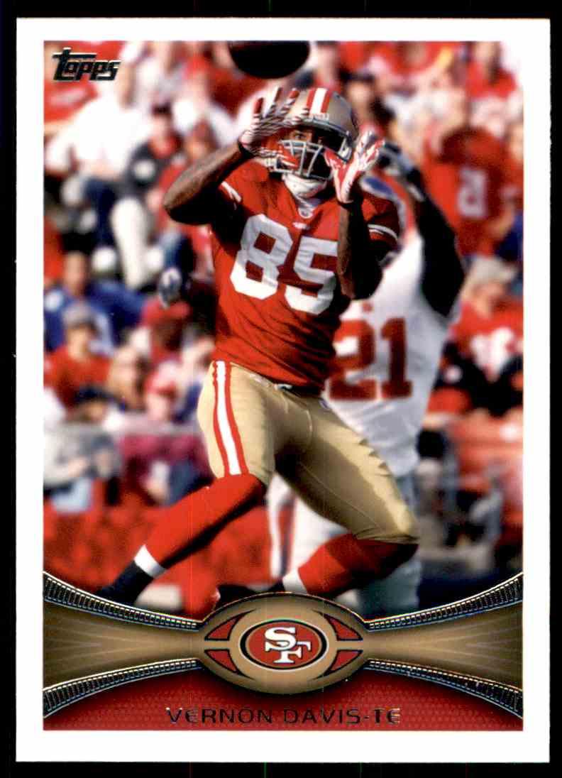 2012 Topps Vernon Davis #164 card front image
