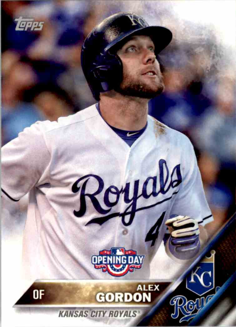 2016 Topps Opening Day Alex Gordon #OD-31 card front image