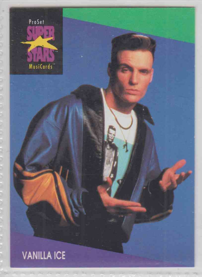 1991 Pro Set SuperStars MusiCards Vanilla Ice #145 card front image
