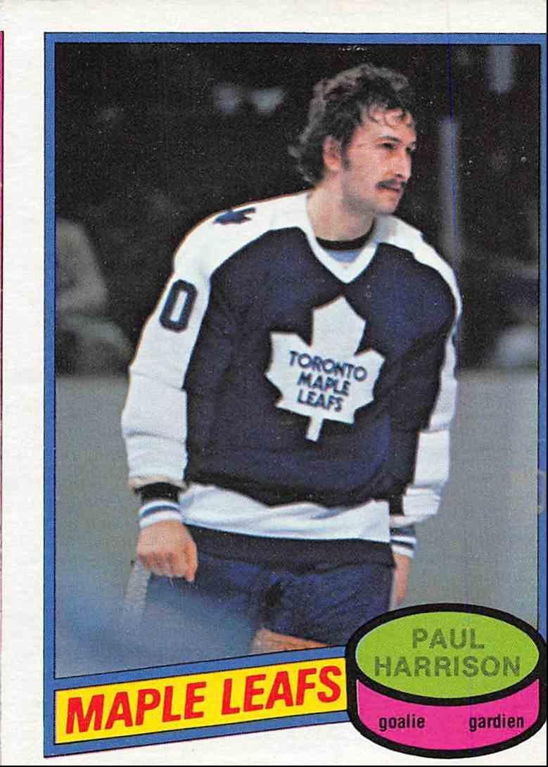 1980-81 O-Pee-Chee Paul Harrison #391 card front image