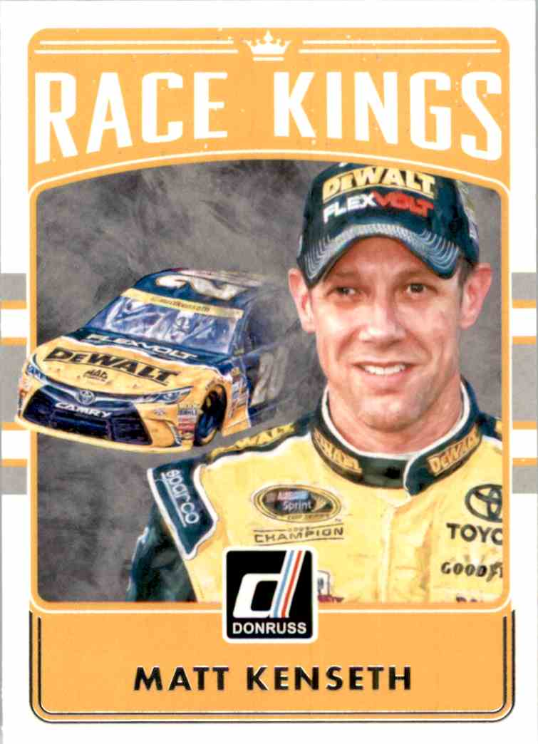 2017 Donruss Matt Kenseth Rk #10 card front image