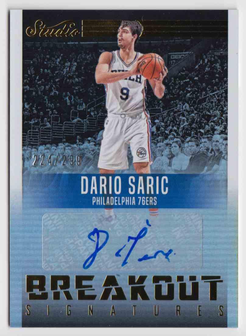 2016-17 Panini Studio Breakout Signatures Dario Saric #16 card front image