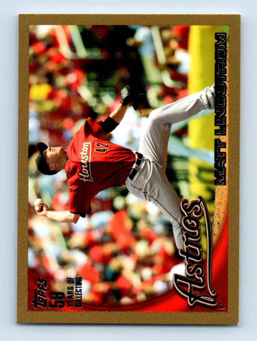 2010 Topps Update Gold Border Matt Lindstrom #US-174 card front image