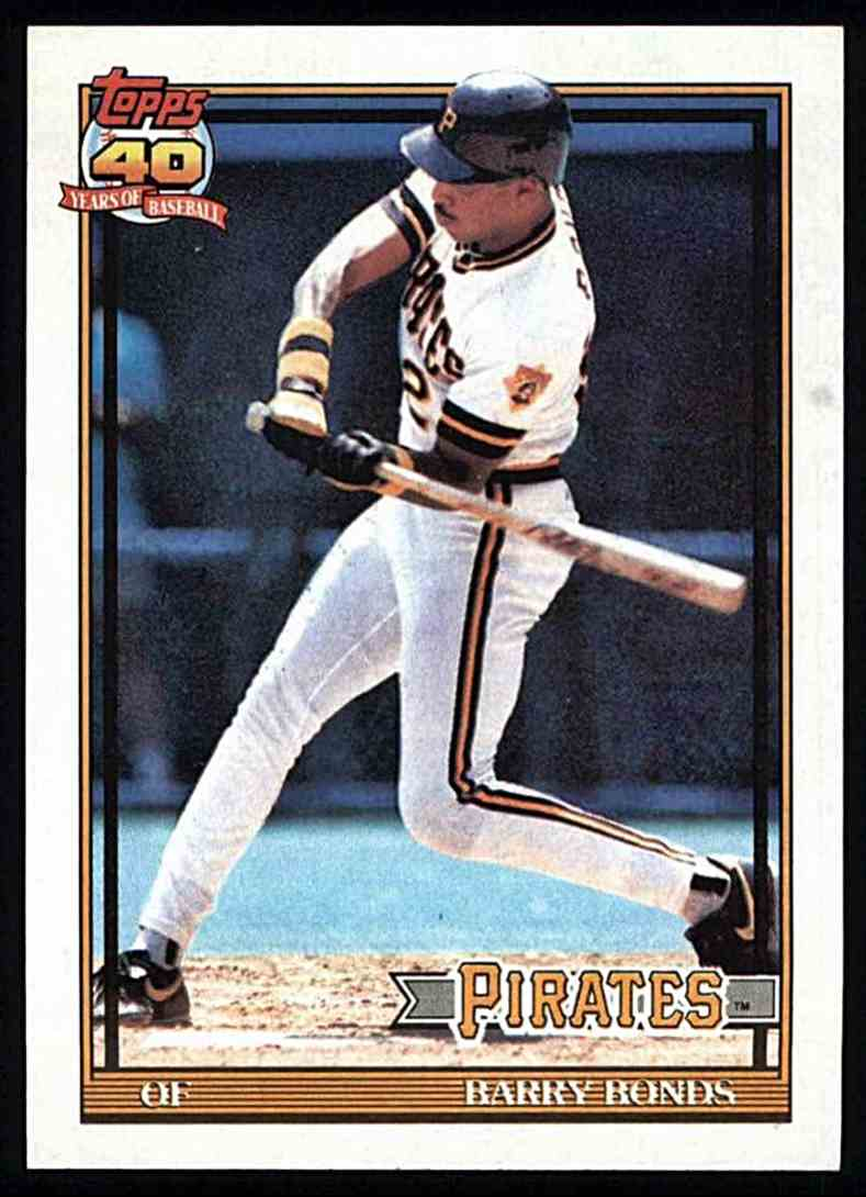 1991 Topps Barry Bonds #570 card front image