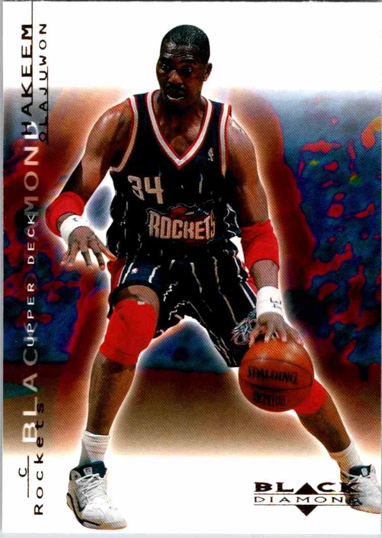 2000-01 Upper Deck Black Diamond Hakeem Olajuwon #29 card front image