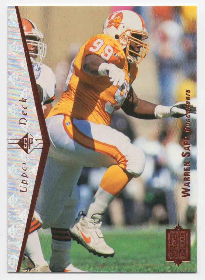 1995 SP Warren Sapp #99 card front image