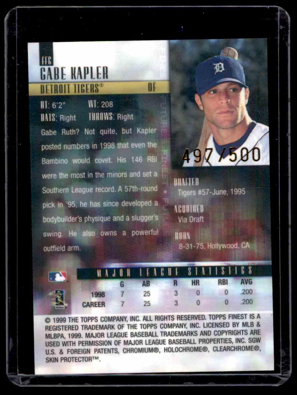1999 Finest Future's Finest Gabe Kapler #FF6 card back image