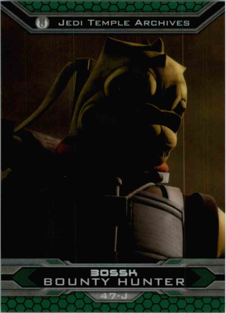 2015 Topps Chrome Star Wars Jedi Temple Archives Bossk #47-J card front image