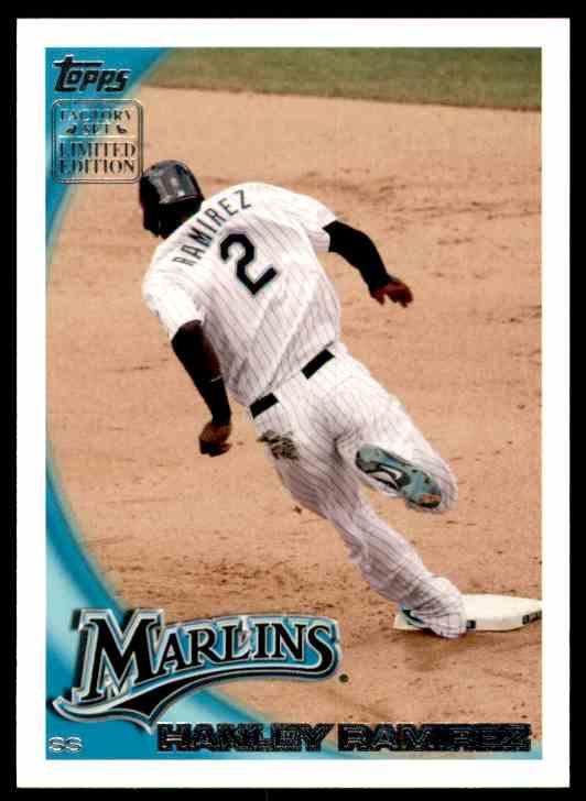 2010 Opps Factory Set Retail Bonus Hanley Ramirez #RS3 card front image