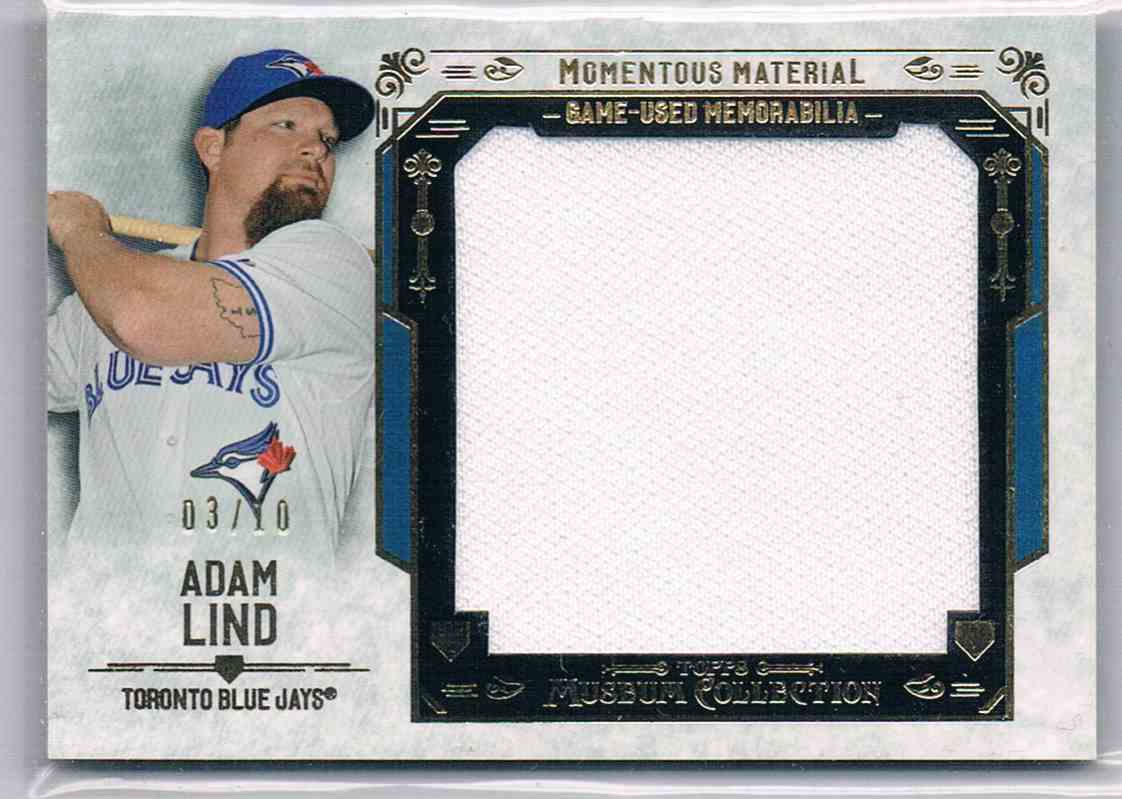 2016 Topps Museum Collection Adam Lind #MMJR-ALD card front image